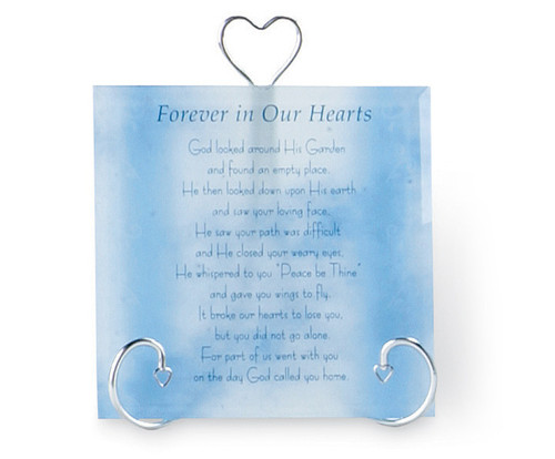 In Loving Memory Glass Memorial Frames With Stand