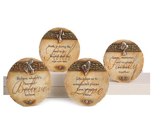 Round In Loving Memory Memorial Plaques With Verse