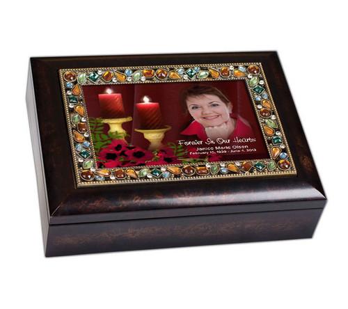 Candlelight Jewel In Loving Memory Memorial Keepsake Box