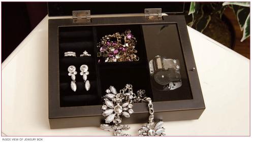 Caribbean Jewel In Loving Memory Music Memorial Keepsake Box inside