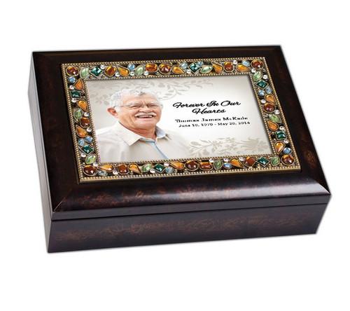 Ceasar Jewel In Loving Memory Music Memorial Keepsake Box