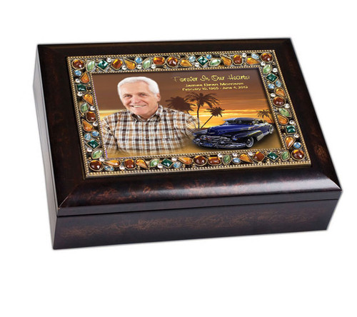 Classic Car Jewel Music Memorial Keepsake Box