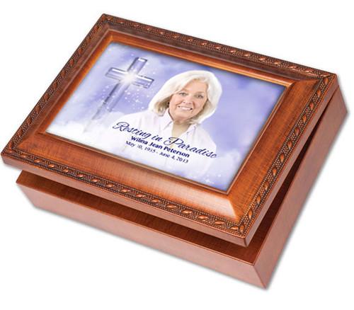 Adoration Wooden Music Memorial Keepsake Box