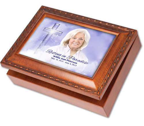 Adoration Wooden Music Memorial Keepsake Box
