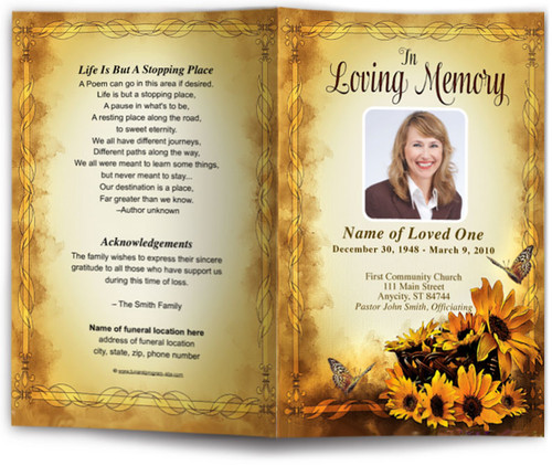genesis funeral program template