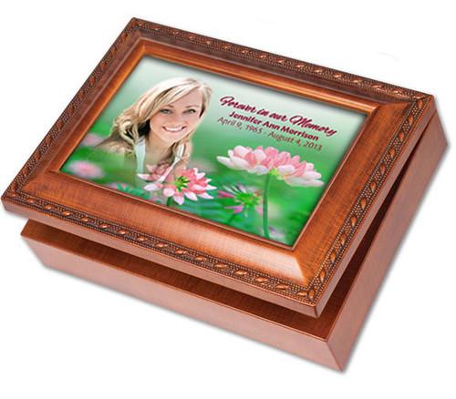 Ambrosia Wooden Music Memorial Keepsake Box