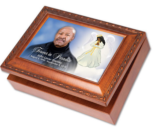 Angel Keepsake & In Loving Memory Memorial Music Box