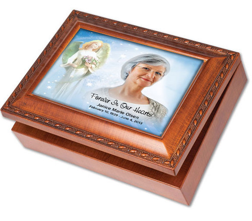 Angelica Keepsake & In Loving Memory Memorial Music Box