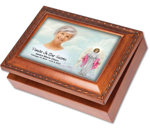 Angelina Keepsake & In Loving Memory Memorial Music Box