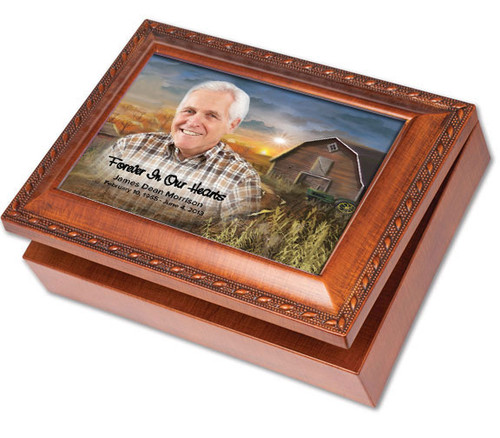 Barn Wooden Keepsake & In Loving Memory Memorial Music Box