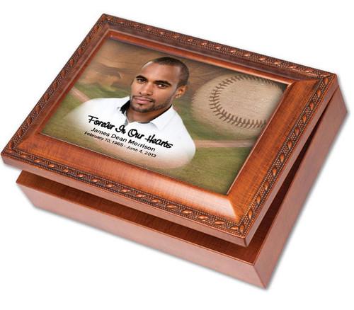 Baseball Keepsake & In Loving Memory Memorial Music Box