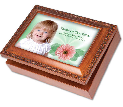 Blossom Keepsake & In Loving Memory Memorial Music Box