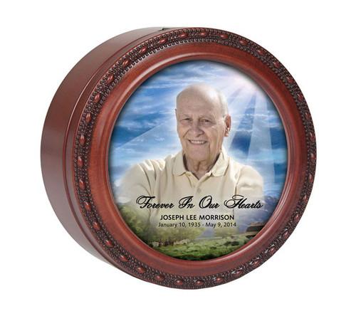 Outdoor Round Memorial In Loving Memory Keepsake & Music Box