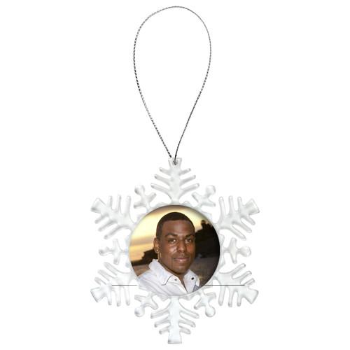 Snowflake Memorial Christmas Ornament   In Loving Memory