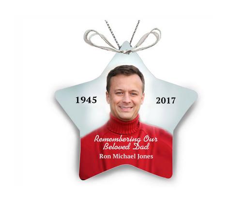 Star Ceramic In Loving Memory Christmas Ornament