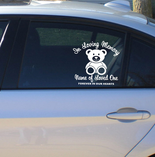 Bear In Memory Car Decals side view
