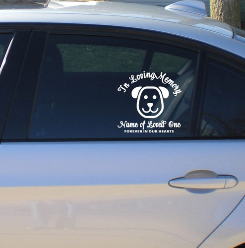 Dog In Memory Car Decals