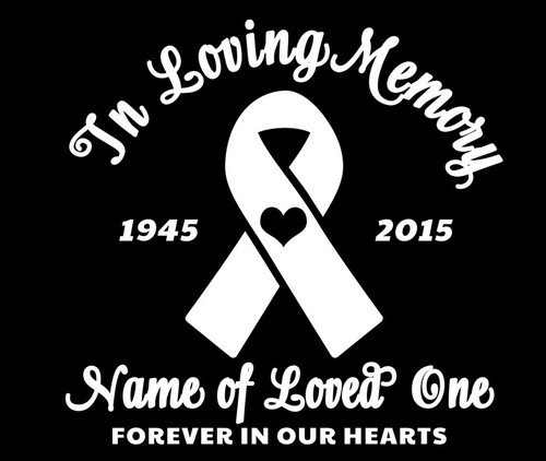 Ribbon In Memory Car Decals front