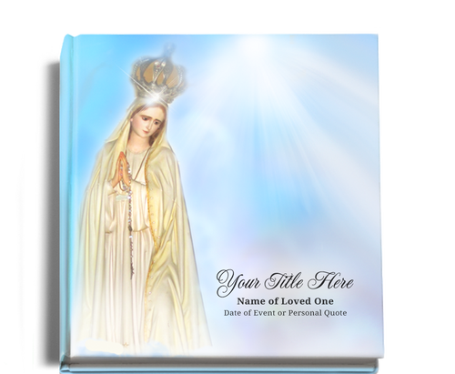 blessed funeral guest book