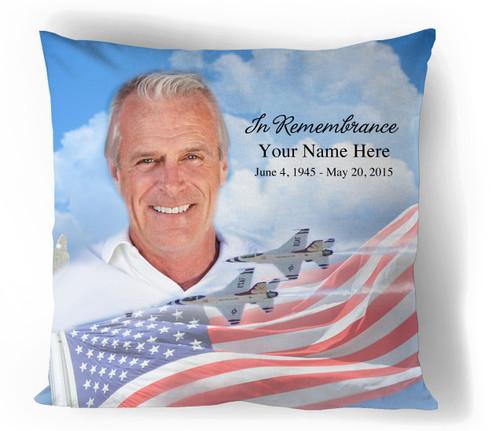 Air Force In Loving Memory Toss Memorial Pillows