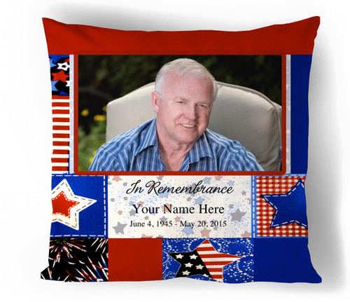 Americana In Loving Memory Memorial Pillows