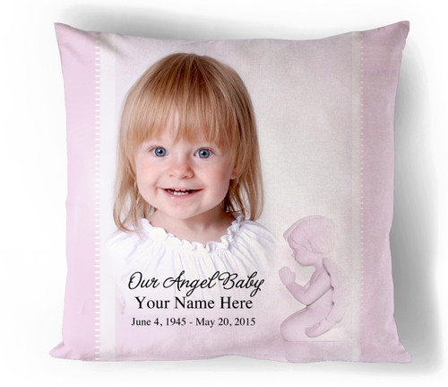 Angela In Loving Memory Memorial Pillows