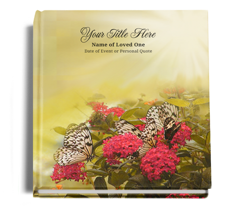 bouquet funeral guest book