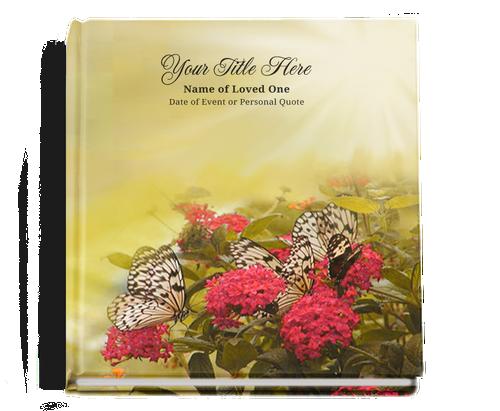 bouquet funeral guest book