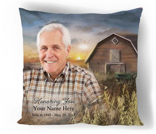 Barn In Loving Memory Toss Pillow