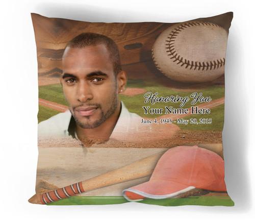 Baseball In Loving Memory Memorial Pillows