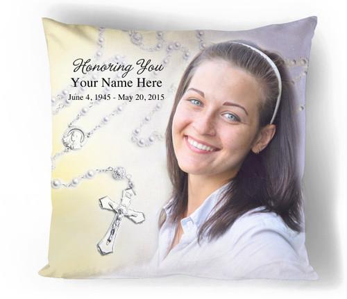 Personalized Beads In Loving Memory Memorial Pillows
