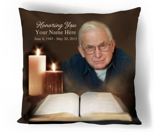 Bible Personalized In Loving Memory Memorial Pillows