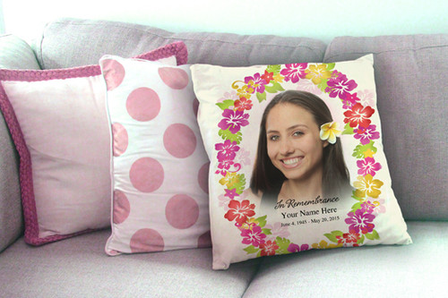 Bouquet In Loving Memory Memorial Pillows sample