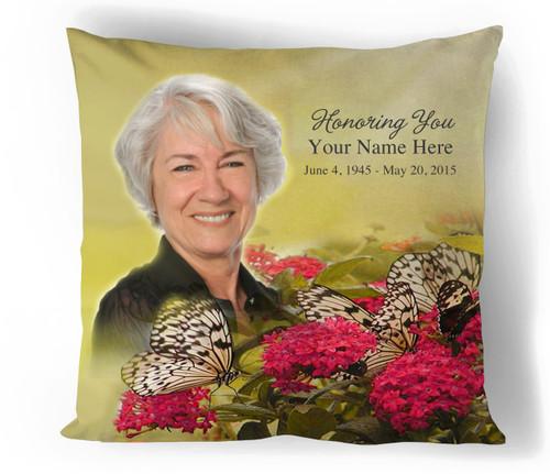 Bouquet In Loving Memory Toss Pillow