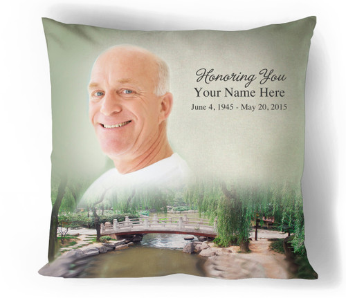 Bridge In Loving Memory Memorial Pillows