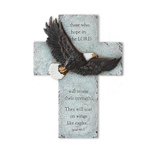 Eagle's Wings Wall In Loving Memory Memorial Cross