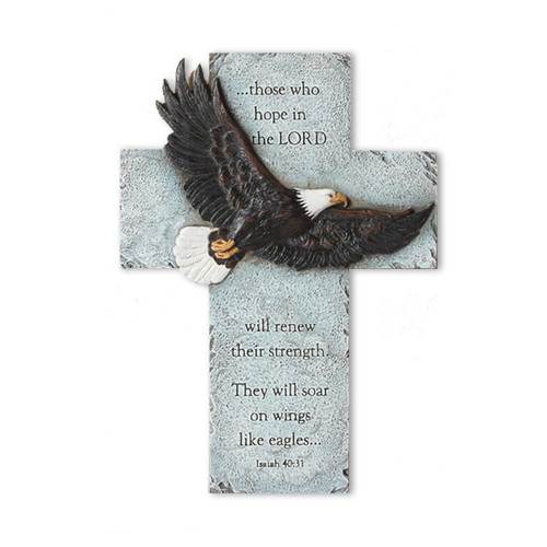 Eagle's Wings Wall In Loving Memory Memorial Cross