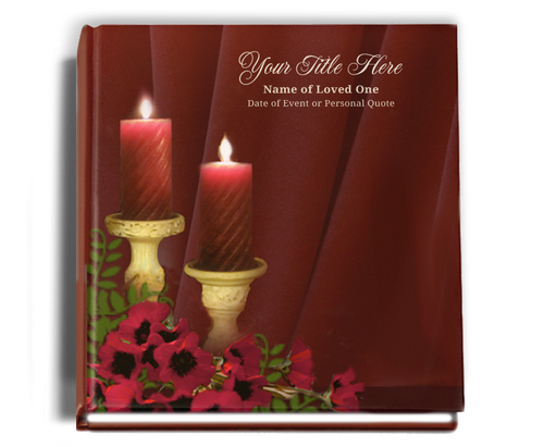 Candlelight Funeral Guest Book