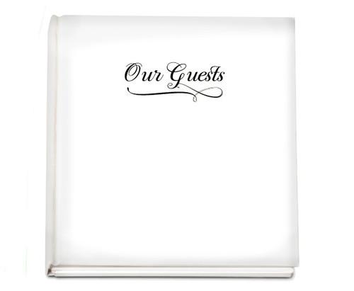 Classic funeral guest book