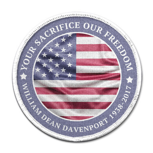 US Patriotic Funeral Memorial In Memory Of Patches