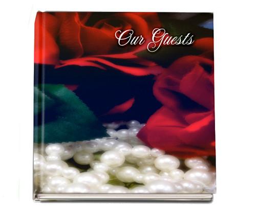 Elegance funeral guest book