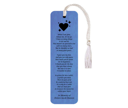 Leatherette Memorial Bookmark To Those Who Loved Me Poem