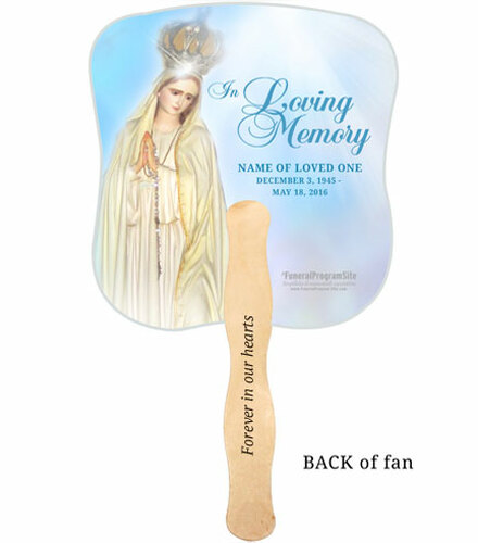 Blessed Cardstock Memorial Fan With Wooden Handle (Pack of 10)