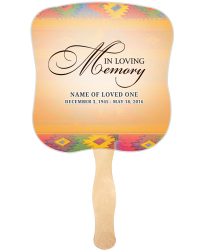 DeColores Cardstock Memorial Church Fans With Wooden Handle front