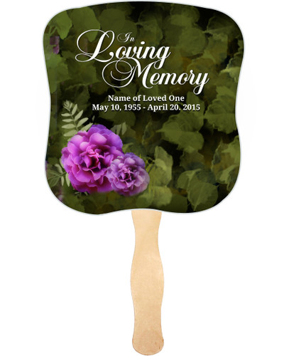 Essence Cardstock Memorial Fan With Wooden Handle (Pack of 10)