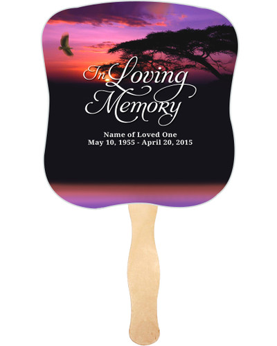 Imagine Cardstock Memorial Church Fans With Wooden Handle front