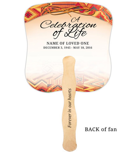 Impala Cardstock Memorial Church Fans With Wooden Handle imprinted