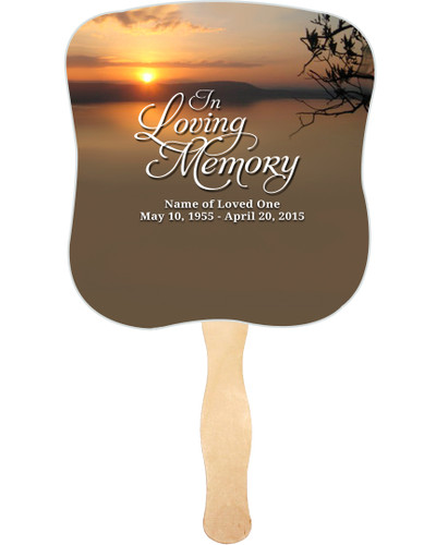 Kenya Cardstock Memorial Church Fans With Wooden Handle front