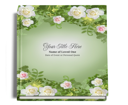 Garden funeral guest book