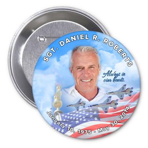 Air Force Memorial Buttons